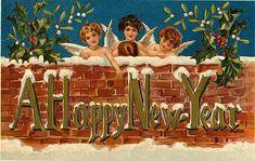 gelukkig nieuwjaar vintage - Google zoeken