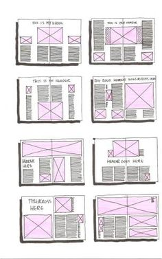 ways to layout pages - clean and simple