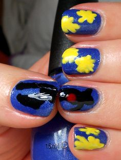 #31DC2013 artwork-inspired nails inspired by Henri Matisse's Jazz.