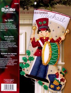 Bucilla Toy Soldier  18 Musical Felt Christmas Stocking