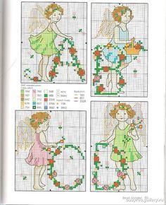 Alphabet Fairies - 2/8 Solo Patrones Punto Cruz (pág. 436)   Aprender manualidades es facilisimo.com