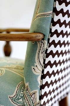 Don't be afraid to mix fabrics, the result can be fantastic! Fabric mixing by Wild Chairy in House of Fifty mag