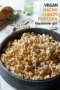 This vegan nacho spicy cheese popcorn from Jason Wrobel's Eaternity cookbook is a delicious healthy snack.