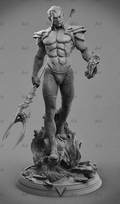 Namor Sub-Mariner 3D Printing Model Stl - 3d printing models 3d Model Character, Character Drawing, Comic Character, Character Concept, Concept Art, Anatomy Sculpture, Art Sculpture, Zbrush, Comic Books Art