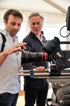 Vincent van Gelder and Gilles Henry discovering the Optimo 56-152mm anamorphic zoom lens