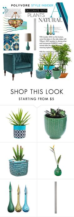 """Grow a Little: Planters"" by lacas ❤ liked on Polyvore featuring interior, interiors, interior design, home, home decor, interior decorating, Tiffany & Co., Dot & Bo, Improvements and plants"
