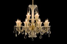 Crystal Lighting: black chandeliers, classic and modern ceiling lighting, metal armed lighting fixtures Crystal Pendant, Crystal Chandeliers, Swag Light, Black Chandelier, Modern Ceiling, Shape Coding, Luxury Decor, Fabric Shades, Colored Glass
