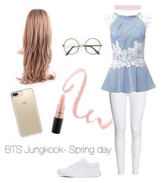 """BTS Jungkook - Spring day live -"" by zucca0 on Polyvore featuring Vans, Speck and MAC Cosmetics"