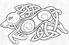 DeviantArt: More Like Celtic Wolf Tattoo by PhoenixGR Celtic Wolf Tattoo, Celtic Tattoos, Wolf Tattoos, Animal Tattoos, Viking Designs, Celtic Knot Designs, Celtic Symbols, Celtic Art, Celtic Knots