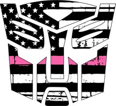 Thin pink line decal - Transformer Autobot Pink Line Decal in many sizes #JakeDesigning