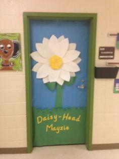 Dr Seuss classroom door- Daisy head Mayzie