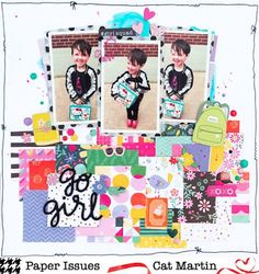 Paper Issues: Scraplift Sunday by Cat Martin for @paperissuesteam
