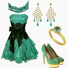 Teal prom dress...ditch the heels for combat boots