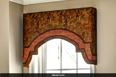 Award wining custom curtains, furniture reupholstery and interior design. Arched Window Treatments, Window Cornices, Custom Window Treatments, Window Coverings, Valances, Cornice Box, Curtains For Arched Windows, Window Curtains, Kitchen Cornice