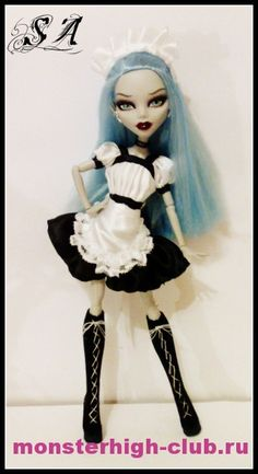 Dress for Monster High. Tutorial.
