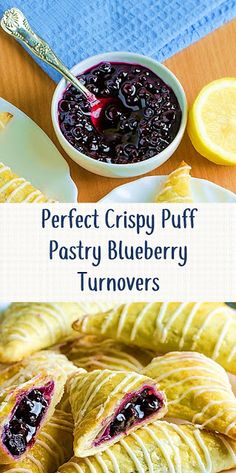 Perfect Crispy Puff Pastry Blueberry Turnovers