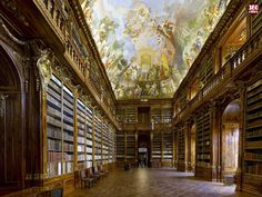 Strahov Monastery Library Panorama, Prague by Jeffrey Martin via his robot controlled Canon 550D. Amazing! http://www.360cities.net/gigapixel/strahov-library.html #Photography #Panorama #Strahov_Monastery_Library #Jeffrey_Martin #Architecture