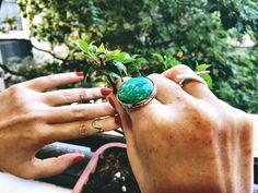 rafael de paula #ring #amazonita #jewerly #silver #boho #cute #fashion