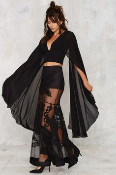 Nasty Gal Kimono Possible Cape Top | Shop Clothes at Nasty Gal!
