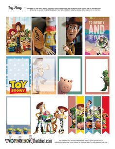 Free Printable Toy Story Planner Stickers from Victoria Thatcher Disney Planner, To Do Planner, Free Planner, Happy Planner, Planner Ideas, Planner Supplies, Festa Toy Story, Toy Story Party, Wash Tape