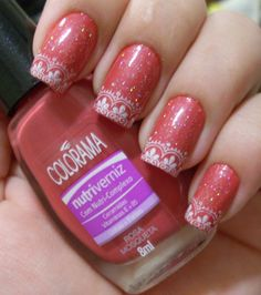 red and lace, Konad stamping