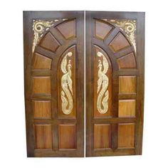 This is Ash Solid Wood Main Double Door. Code is HPD414. Product of Doors - Inported Ash Wood Latest design - Solid Wood Doors that are available in various specifications and materials based on the clients Al Habib