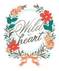 Wild at Heart Print by smalltalkstudio on Etsy