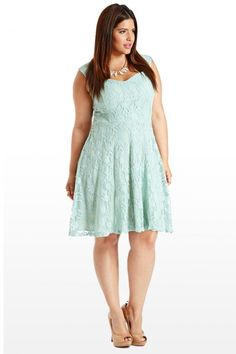 Carpe Diem Lace Dress in Mint Green from Fashion to Figure (http://www.fashiontofigure.com/catalog/clothing/plus-size-dresses/carpe-diem-plus-size-lace-dress.html)