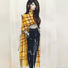 💛🖤💛 Style by Fashion Design Sketchbook, Fashion Design Drawings, Fashion Sketches, Moda Fashion, Fashion Art, Fashion Models, Fashion Outfits, Fashion Drawing Dresses, Fashion Illustration Dresses