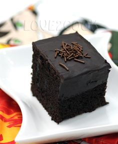♥ LOVE2COOK MALAYSIA♥: ♥...Friday Food Review ~ Eggless Chocolate Cake, 4th recipe!...♥
