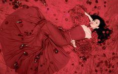 Girls - Red rose wallpaper