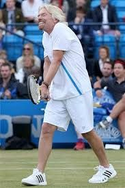Richard Branson playing Tennis. Get your FREE DOWNLOAD of the SportsQuest app at www.sportsquestapp.com @SportsQuestApp