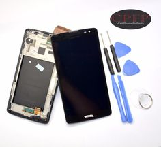 LG G Vista D631 VS880 Full LCD Touch Digitizer Screen Assembly with Frame Black #Unbranded