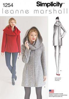 Simplicity - 1254 winterjas | Naaipatronen.nl | zelfmaakmode patroon online