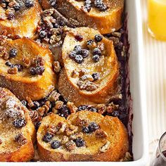 Blueberry-Pecan French Toast Casserole