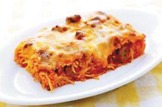 Yum... I'd Pinch That!   Paula Deen's Baked Spaghetti a la PHILLY