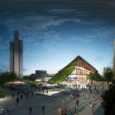 ingenhoven architects has presented plans to reconfigure part of düsseldorf's…