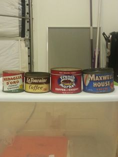 Old coffee cans