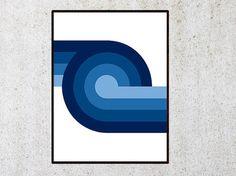 Printable Geometric poster, Modern wall prints, Mid century art 11x14 8x10