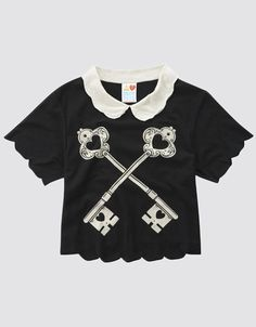 The Lock Up Crop Top, Drop Dead Clothing