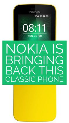 A refreshed version of the Nokia last seen in The Matrix, is coming to Europe in May. Nokia 1, Mobile World Congress, Announcement, How To Find Out, Android, Product Launch, Europe, Tech, Phone