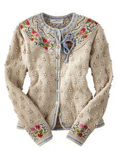 Bilderesultat for bordado no trico Gilet Crochet, Knit Crochet, Cardigan Sweaters For Women, Sweater Cardigan, Cardigans, Knit Sweaters, Ugly Sweater, Mode Vintage, Knit Patterns
