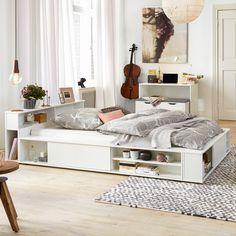 Doppelbett KiYDOO smart II - Alpinweiß - 140 x 200cm