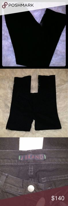 J Brand women's jeans Now THESE are cool! They are so black and as much as they have been worn, they are in PERFECT NEW condition and the color hasn't washed out not one bit. Ready for its next beautiful owner :) this has more of a straight leg. Size 29 aka 8. Could comfortably fit a 8-10ish. My other jeans are about the same size and they fit. J Brand Jeans