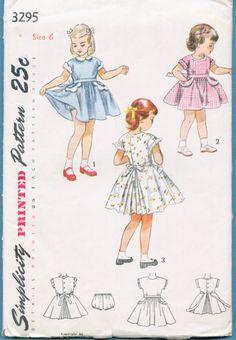 Vintage Sewing Pattern - Girls Childs Childrens Dress Flared Skirt  - Sz 6 1950's. $7.00, via Etsy.