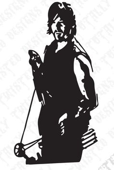 the walking dead car decals | The walking dead daryl dixon with crossbow vinyl car truck decal ...