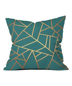 Deny Designs Elisabeth Fredriksson Copper And Teal Throw Pillow - Kissenbezug Ideen Teal Throws, Teal Throw Pillows, Toss Pillows, Outdoor Throw Pillows, Decorative Throw Pillows, Accent Pillows, Teal Cushions, Bedroom Cushions, Patio Cushions