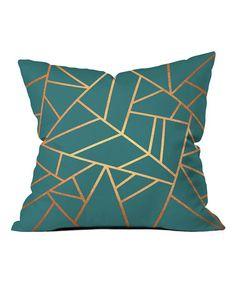 Look at this #zulilyfind! Copper & Teal Elisabeth Fredriksson Throw Pillow #zulilyfinds