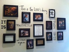 I love how my wall turned out! Psalm 118:23