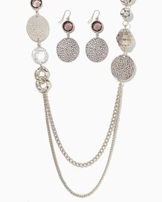 charming charlie | Metal Muse Necklace Set | UPC: 410005021403 #charmingcharlie